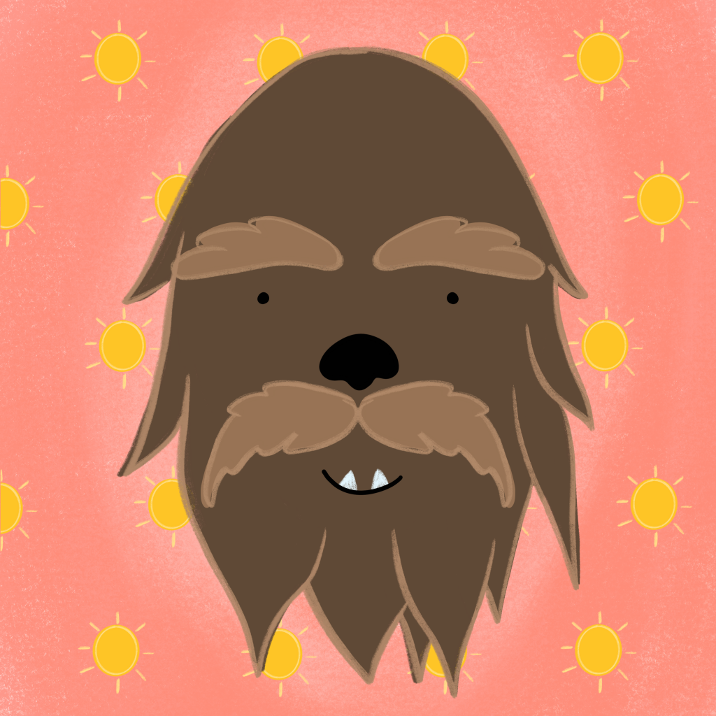 Chewbacca Chewie Wookie Illustration for the 100 day project